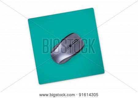 Computer Mouse With Pad