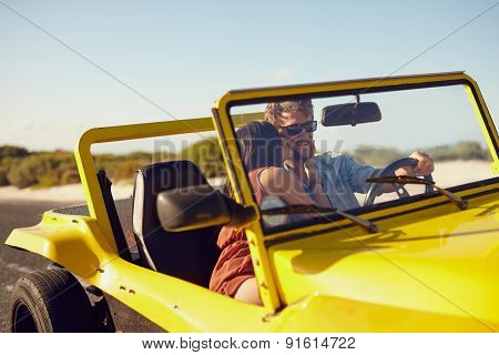 Romantic Young Couple On Road Trip