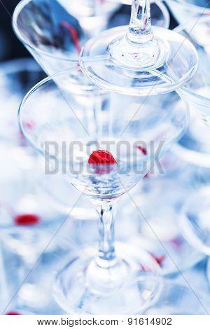 Pyramid Champagne Martini Glasses