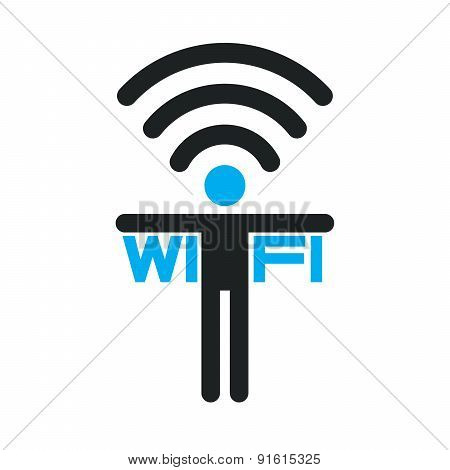 Wifi Zone Sign, Free Wi Fi. Internet Connection