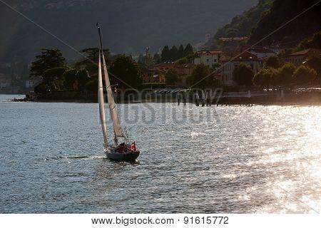 Sailboats At Lake Como, Italy