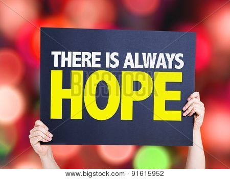 There Is Always Hope card with bokeh background