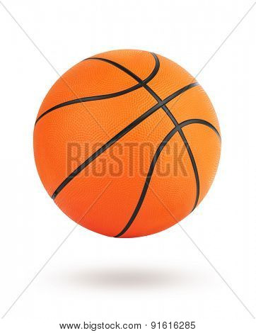 Basketball ball isolated on white background with clipping path