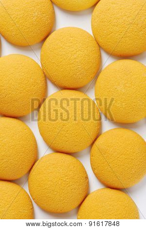 full frame of soft sponge biscuits