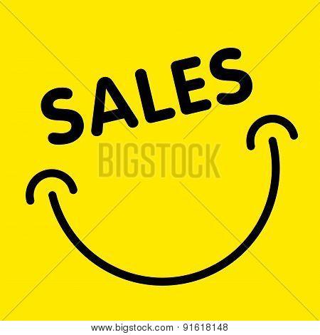 Sales Smile Advertising Card