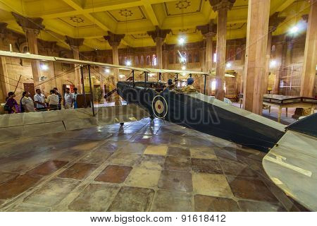 Old De Havilland Dh9 In The Palace Of Bikaner