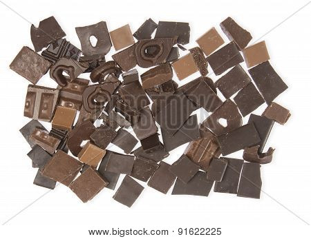 Background Pieces Of Chocolate