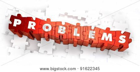 Problems - Text on Red Puzzles.