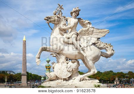 Mercury Riding Pegasus Sculpture, Paris, France