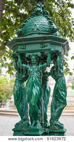 Outdoor Fountain Near Saint-sulpice, Paris