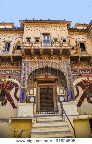 Beautiful Old Haveli In Mandawa, Rajasthan, India