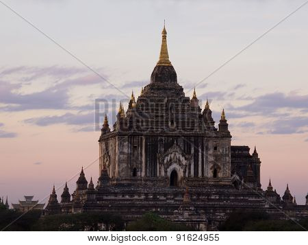 Ananda Temple Is Located In Bagan, Myanmar. This Image Was Taken At Sunset.