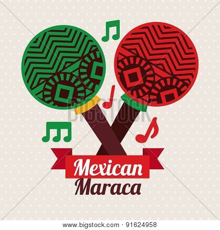 Mexico design over beige background vector illustration
