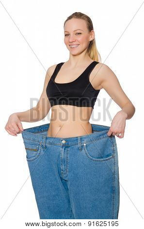 Young woman in dieting concept