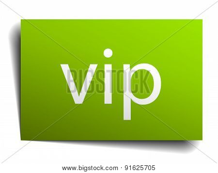 Vip Square Paper Sign Isolated On White