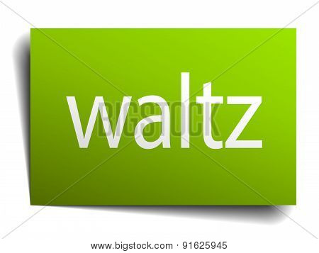 Waltz Square Paper Sign Isolated On White