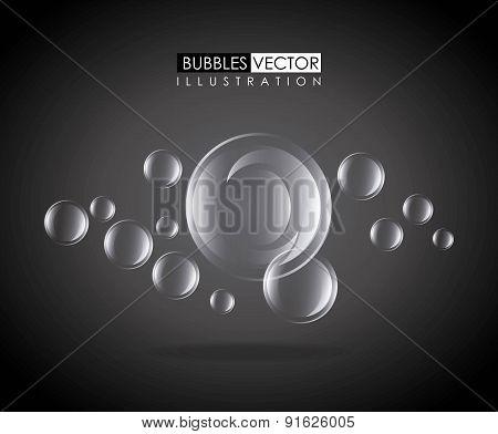 Bubbles design over black background vector illustration