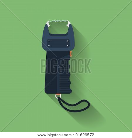 Icon Of Electric Shocker, Electric Strike, Electric Stunning Device, Electrical Shock Apparatus, Stu