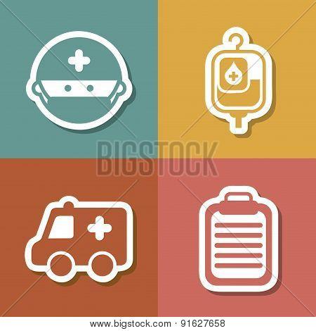 Medical design over colorful background vector illustration