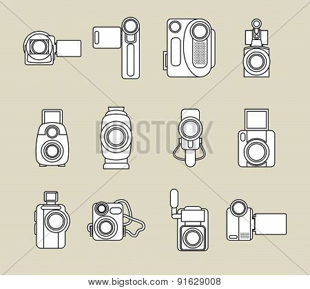 Cinema design over beige background vector illustration