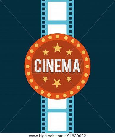 Cinema design over blue background vector illustration