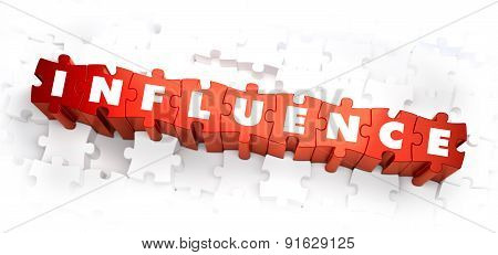Influence - Word on Red Puzzles.