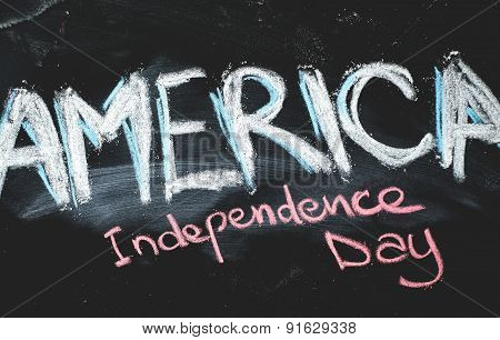 Independence day chalkboard background