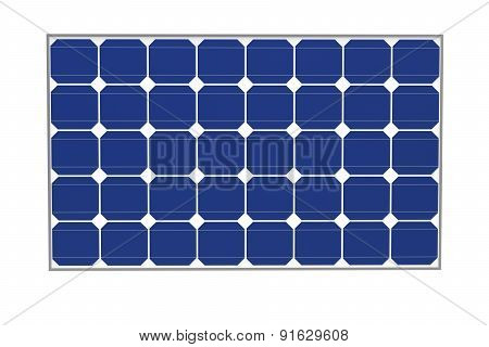 Solar Cells Isolated On A White Background