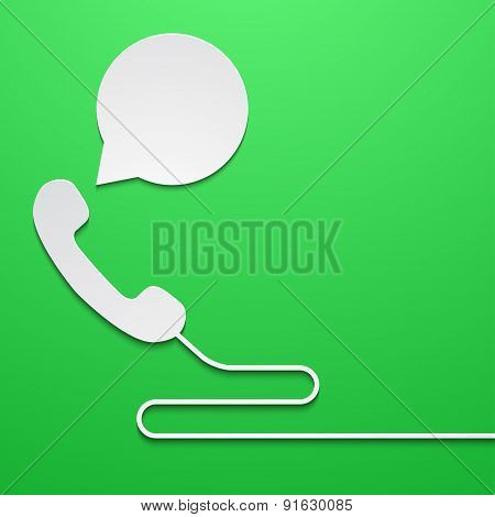 Vector modern phone with bubble speech
