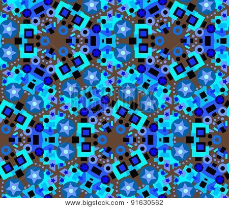 Abstract pattern with stars.