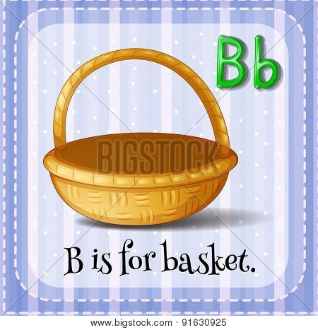 Flashcard letter B is for basket