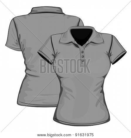 Polo-shirt women. Vector illustration