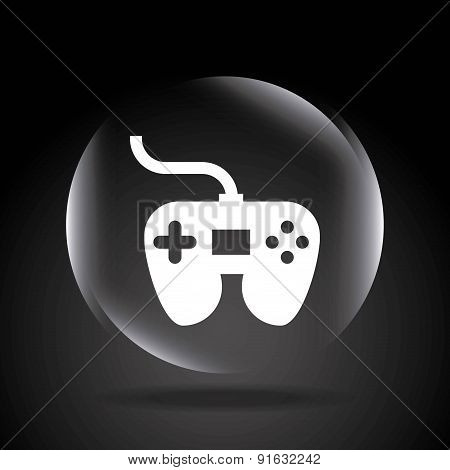 Video game design over black background vector illustration