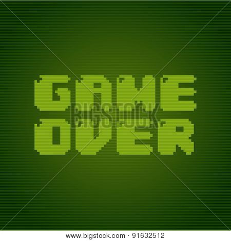 Video game design over green background vector illustration