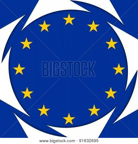 European union colors abstract corporate background. Vector design