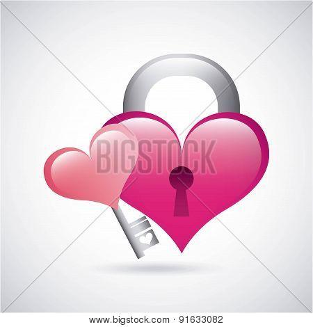 Love design over gray background vector illustration