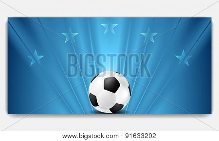 Bright abstract blue soccer background. Vector design