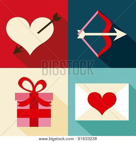Love design over colorful background vector illustration