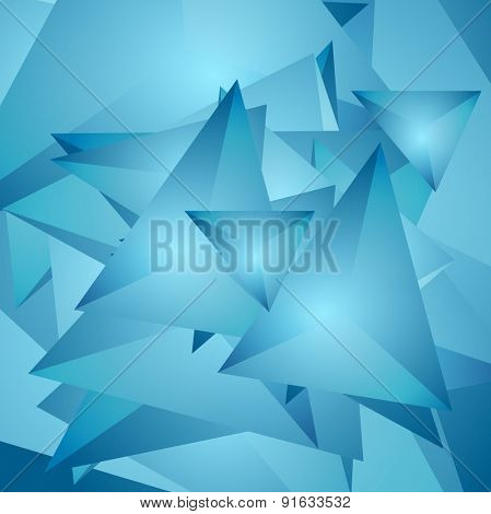 Abstract tech polygonal background. Vector design