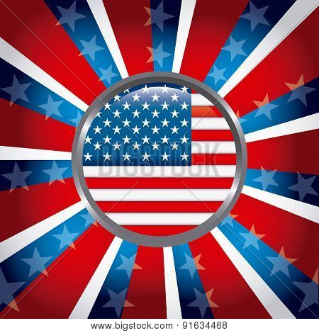 USA design over colorful background vector illustration