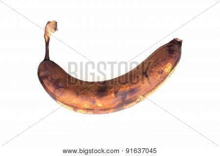 Rotten banana Isolated