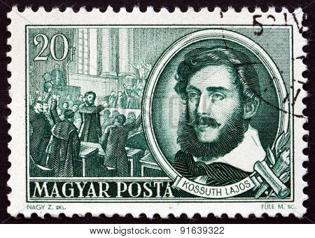 Postage Stamp Hungary 1952 Lajos Kossuth, Politician