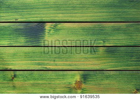 Wood Texture, Green Wood Planks Background