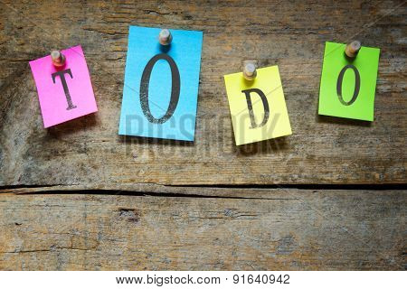Notice Board With The Word Todo