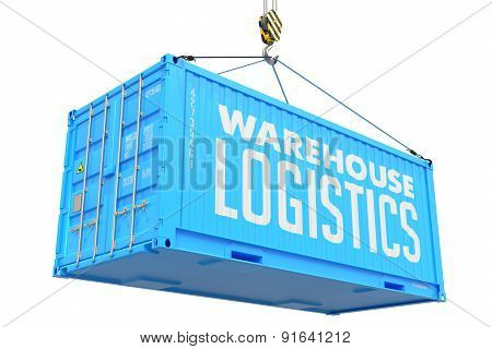 Warehouse Logistics -Blue  Hanging Cargo Container.