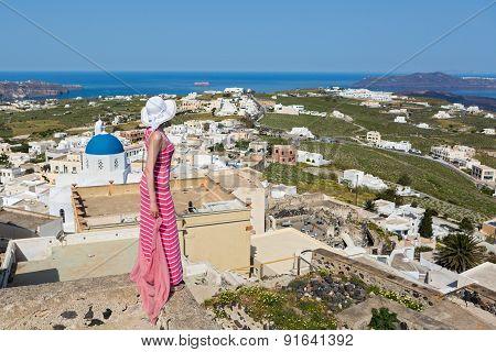 Women On The Island Of Santorini