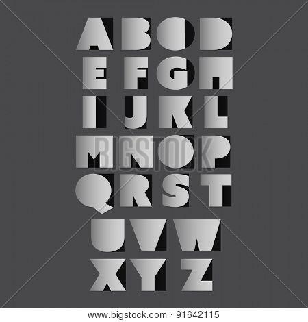Paper Cut Alphabet Set - Minimal Letter Design