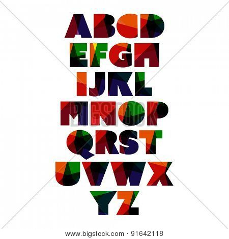 Modern and Colorful Bold Font Set Design
