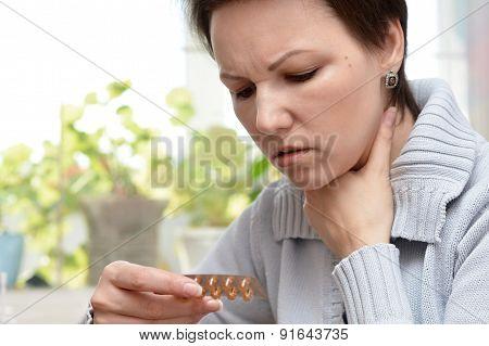 woman feel unwell