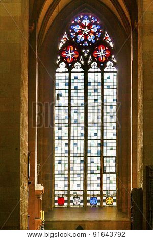 Beautiful Colorful Gothic Windows In The Dome Of Mainz